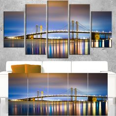Delaware Memorial Bridge Panorama - Landscape Wall Art Print
