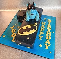 Batman teddy first birthday cake