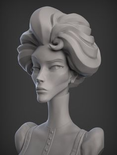 Evil Step Mother by William Pitzer 3d Model Character, Female Character Design, Character Modeling, Character Design Inspiration, Character Art, Character Concept, Zbrush, Ceramic Sculpture Figurative, Anatomy Sculpture
