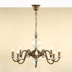 Lustrarte Lighting Classic Etrusca 8 Light Candle-Style Chandelier Finish: Antique Brass Mat