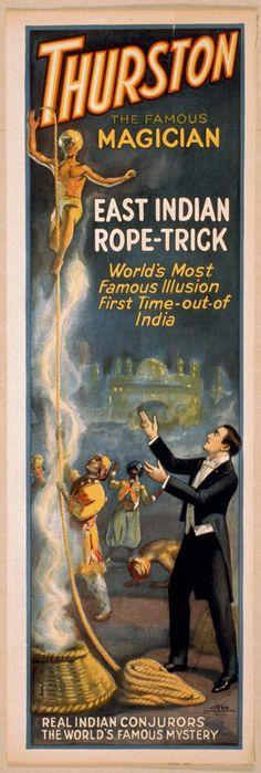 "Cartaz de ""Trurston - The Great Magician"", de 1927"