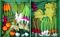 El reto de ser primerizos: DIY- Comida Fieltro (Fruta y Verdura)