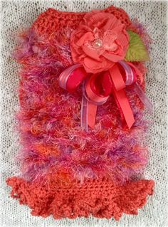 AZALEA Hand Knit and Crochet Fluffy Dog Sweater -- Custom -- All Sizes