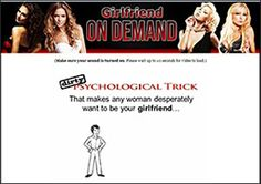 Girlfriend on Demand is a book that will give you tricks to seduce women such that they will be attracted towards you. This system is just a guide, a mentor, it can just provide you the knowledge.
