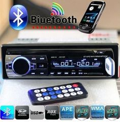 Bluetooth Hands-free In-Dash Car Stereo FM Radio MP3 Audio Player