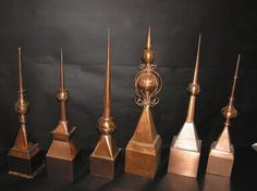Cupolas, weathervanes, dormers, finials, etc., from Custom Copper Designs