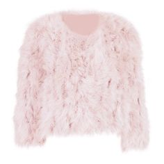 Glam Feather Jacket ❤ liked on Polyvore featuring outerwear, jackets, pink jacket, feather jacket and pink feather jacket