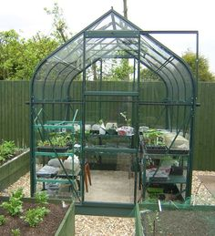 Vitavia Orion Green 8x6 Greenhouse - 3mm Horticultural Glazing