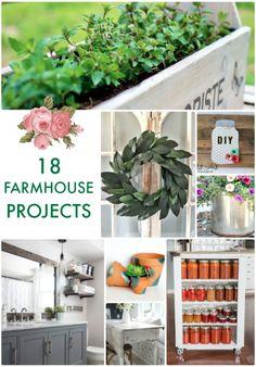 18 Farmhouse Projects from tatertotsandjello!