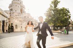 Romantic running wedding pose in Budapest Hungary Wedding Poses, Wedding Portraits, Wedding Dresses, Budapest Hungary, Destination Wedding Photographer, Travel Around The World, Elegant Wedding, Romantic, Running