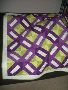 Quilt for Molly (Leukemia/Lymphoma colors) by @Deborah Wood //signed by family members <3
