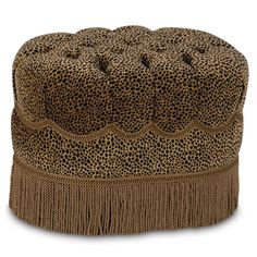 Cleopatra Tufted Oval Ottoman Design Nashville specializing in luxury bedrooms