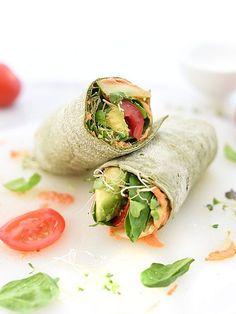 Hummus Veggie Wrap Plus 10 Heavenly Hummus Recipes to Make at Home  | foodiecrush.com