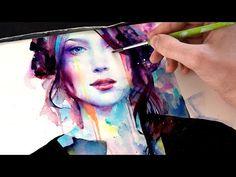 【WATERCOLOR PORTRAIT】 With Her Strength. Link download: http://www.getlinkyoutube.com/watch?v=qMridSmiHwk