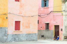 Pastel colours in El Jadida, Morocco