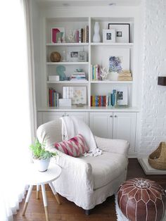 I would love to curl up in this chair with a good book and a glass of ice tea.