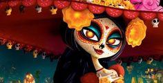 desenhos da deusa morte mexicana | Festa no Céu | Cinemascope [ Cinema além dos clichês ]