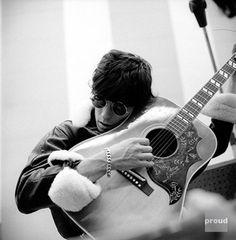 Keith Richards and Gibson Hummingbird