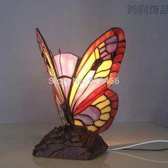 Forma de borboleta De Vidro Manchado de Tiffany Lâmpada de Mesa Lâmpada de Cabeceira Sala de estar Decoração E27 110 240 V em Candeeiros de mesa de Luzes & Iluminaçao no AliExpress.com | Alibaba Group