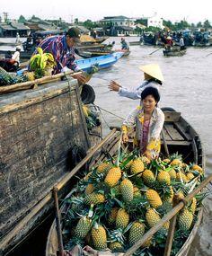 Cai Rang floating markets, Mekong Delta, Vietnam ~Repinned Via Nancy Bartell