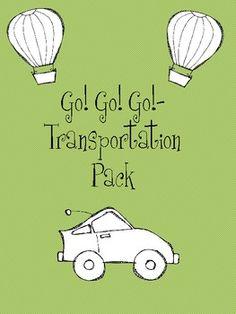 Go! Go! Go! Transportation Pack - nice freebie for transportation unit!