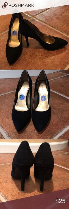 BCBGeneration black suede pumps BCBGeneration black suede pumps. Pointy toe. Size 7 1/2. Never worn. 4 inch heel BCBGeneration Shoes