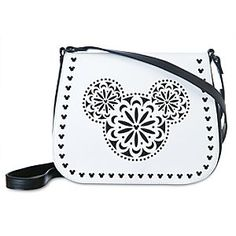 Disney Mickey Mouse Icon Laser Cut Crossbody Bag by Vera Bradley   Disney StoreMickey Mouse Icon Laser Cut Crossbody Bag by Vera Bradley - Mickey's fa-mouse icon is fashioned into a folk-art influenced fantasia on Vera's fine fashion faux-leather purse featuring precise laser-cut overlay design and adjustable crossbody strap.