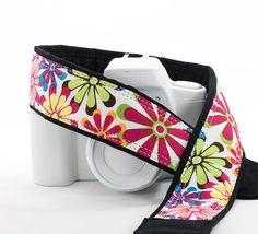 dSLR Camera Strap Replacement Camera Strap Retro Flower by ten8e