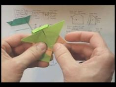 "Tom Angleberger shows us how to make an origami Yoda from his book ""The Strange Case of Origami Yoda""."