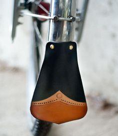 Leather Bicycle Fender Mudflap