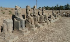 Sekhmet statues at the Temple of Mut (there was about 800 of the godess statues)