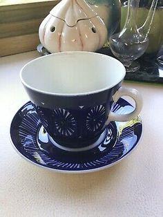Arabia Finland Large Tea Cup And Saucer Tea Cup Saucer, Tea Cups, Finland, Porcelain, Mid Century, Pottery, Ceramics, Make It Yourself, Tableware