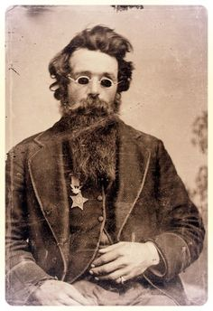 Jefferson Coates, who lost both eyes at Gettysburg and was awarded the Medal of Honor ca 1870