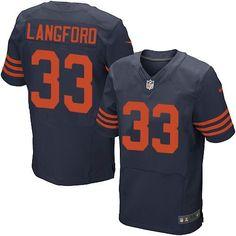 Taylor Gabriel jersey Nike Bears #33 Jeremy Langford Navy Blue Alternate Men's Stitched NFL Elite Jersey Jamal Adams jersey 12th Fan jersey