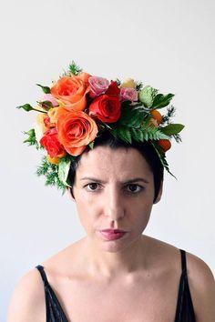 Frida Kahlo inspired Melbourne spring racing fascinator - by floretta.com.au