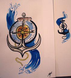compass anchor tattoo   Tattoo Compi: Tattoo Designs by Glenda Morgan