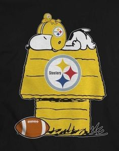 Snoopy & Woodstock relaxing after watching a Pittsburgh Steeler Victory. Pittsburgh Steelers Wallpaper, Pittsburgh Steelers Jerseys, Pittsburgh Sports, Dallas Cowboys, Pitsburgh Steelers, Here We Go Steelers, Steelers Stuff, Steeler Football, Snoopy Love