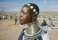 Ndebele tribe in Kwadlaulale Market, South Africa