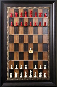 A vertical chess set.  Awesome.