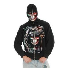 The Homestead Survival: 5 Different Hooded Sweatshirt Hoodie Costume with Face Mask Halloween Clever Halloween Costumes, Trendy Halloween, Easy Costumes, Costume Ideas, Gothic Halloween, Punk Chic, Skull Hoodie, Hooded Sweatshirts, Hoodies