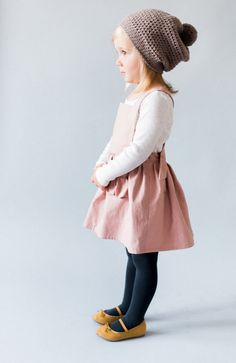 Linen Pinafore Dress | blytheandreese on Etsy #adorable