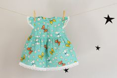 Baby Girl Butterfly Dress Baby Girl Clothing van LalaKa op Etsy, $22.00