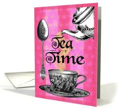 Tea Time | Mixed Media / Collage | Greeting Card Universe by Edith Schmidt