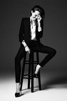 "Angelina Jolie in ""Untamed Heart"" for Elle US, June 2014 Photographed by: Heidi Slimane"
