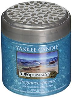 Yankee Candle Company 1295643 Turquoise Sky Fragrance Spheres >>> You can get more details by clicking on the image. (This is an affiliate link) Cleaning Supply Storage, Cleaning Supplies, Scented Candles, Candle Jars, Long Burning Candles, Good Burns, Home Air Fresheners, Candle Shades, Candle Accessories