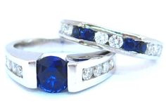 This is a unique mix of diamonds & saphires
