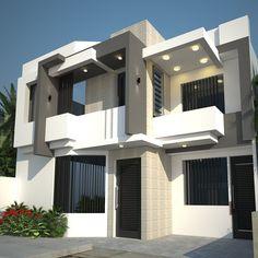 Wall Design, House Design, Facade House, House Styles, Antiques, Home Decor, Modern House Facades, House Siding, Trendy Tree