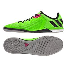 the latest e81ac cba73 Adidas ACE 16.1 Court Indoor Soccer Shoes (Solar Green Black Night  Metallic)   AF4249   Adidas Indoor Soccer Shoes   SOCCERCORNER.com