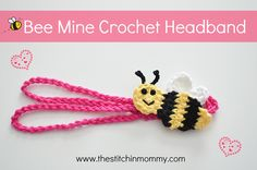 This is a free pattern for an adorable bee applique and crochet headband! Perfect for Valentine's Day!