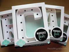 Heidi Swapp CREATE Marquee Letters at Michael's.